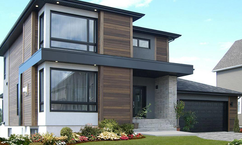 Simple contemporary cladding